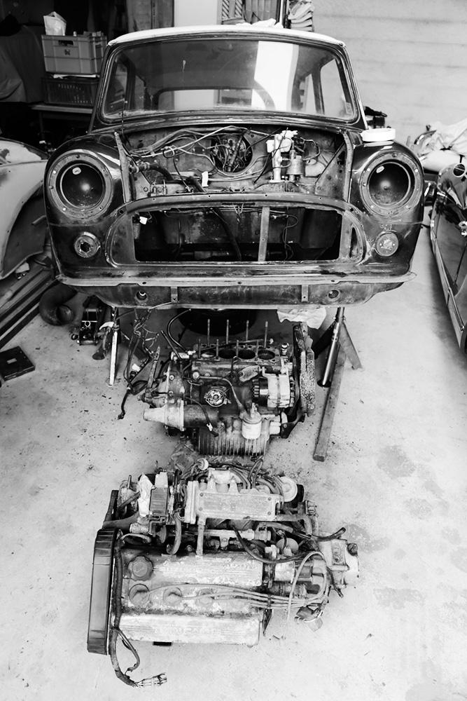 Gamla och nya motorn
